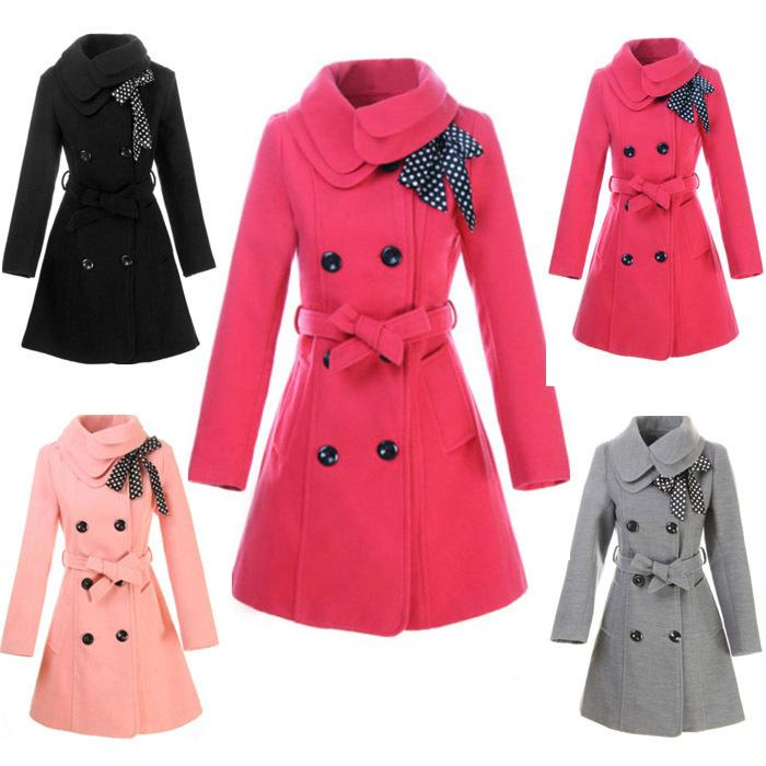 2017 Winter Korean Style Women Woolen Coat Long Sleeve Slim Double ...