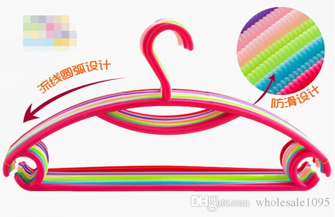 The colorful candy colored plastic rainbow clothes hanger clothes rack clothes hanger hanger hanger