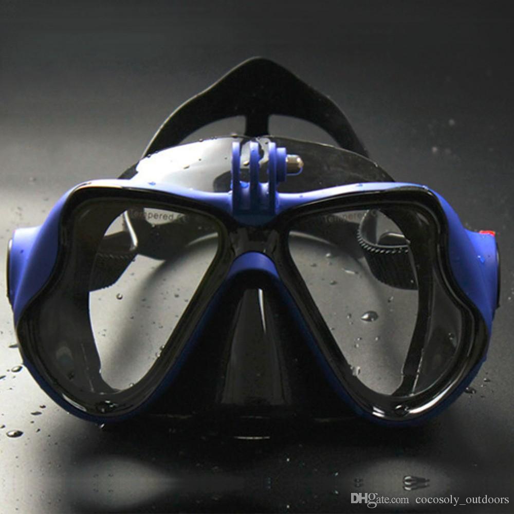 15f88b9ab Compre Caça Subaquática Câmera Mergulho Máscara Scuba Snorkel Óculos De  Natação Para Câmera Esportiva Free Shopping De Conbow