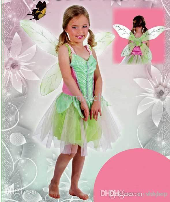 Wholesale Christmas Carnival Costume For Children Halloween Costume For Kids Tinkerbell Costume For Girls Green Fairy Girl Cosplay Simple Anime Cosplay ...  sc 1 st  DHgate.com & Wholesale Christmas Carnival Costume For Children Halloween Costume ...