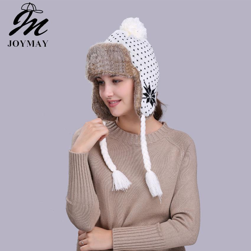 e86defcabd091 Wholesale- Joymay Winter Hat Bomber Hats For Men Women Thicken ...