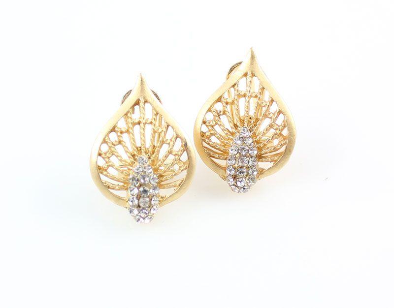 Женские ювелирные изделия полый хрустальный лист цветок ожерелье браслет сережки наборы 18 K позолоченный африканский дубай свадебный костюм ювелирных изделий