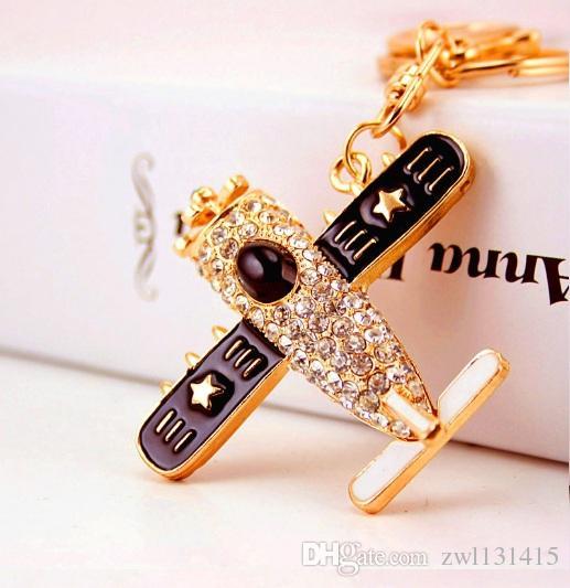 Fashion Aircraft Airplane Air Plane Model Metal Keychain Key Chain Ring Aeroplane Keyfob Keyring Keyrings Gift