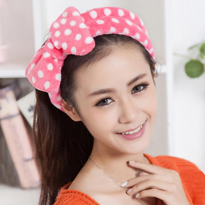 2017 beauty headband korean big bow headband makeup