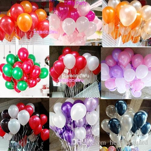 10 Inch Helium Latex Balloon Pearl Metallic Balloons Wedding Balloon
