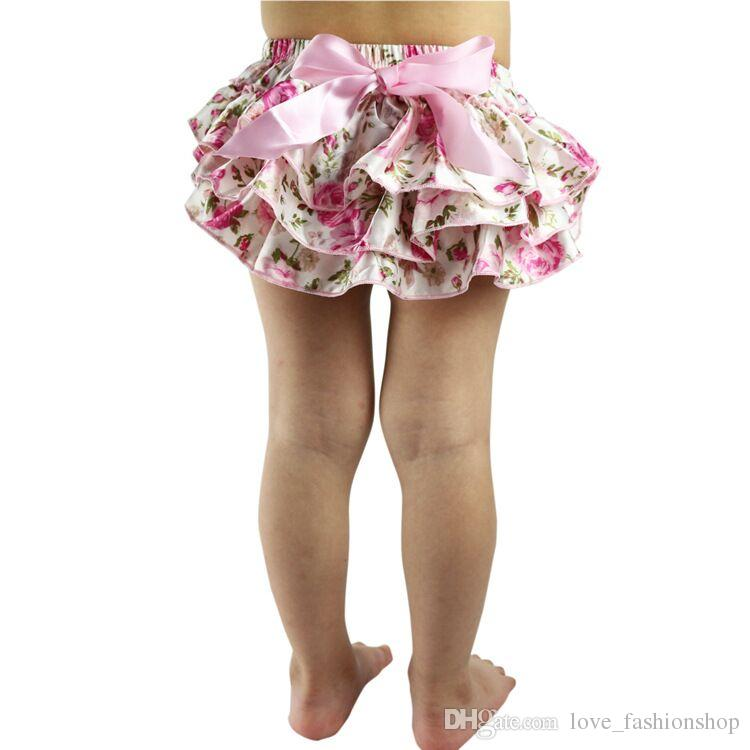 Mix Baby Bloomers Girls Pettiskirt TUTU underwear Panties Toddle Kids Underpants infant newborn ruffled satin PP pants Kids Cloth