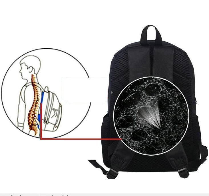 Kirito backpack SAO day pack حقيبة مدرسية Kirigaya Kazuto السيف الفن packsack على الإنترنت صورة حقيبة الظهر الرياضة المدرسية daypack