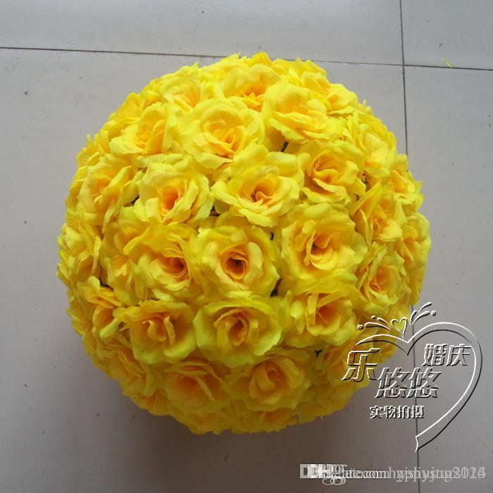 2019 6inch 15 Cm New Artificial Yellow Rose Silk Flower Kissing