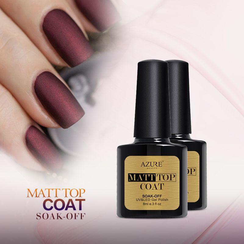 Azure Beauty Nail Gel Polish New Arrival Matt Matte Top Coat Soak ...