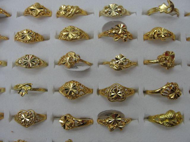 Ucuz Fiyat Kadın kız Yüzükler mix Kalp Yonca Çiçek ücretsiz Boyutu Gümüş Altın Yüzük Moda Takı sevgililer Günü hediye 20 adet / grup