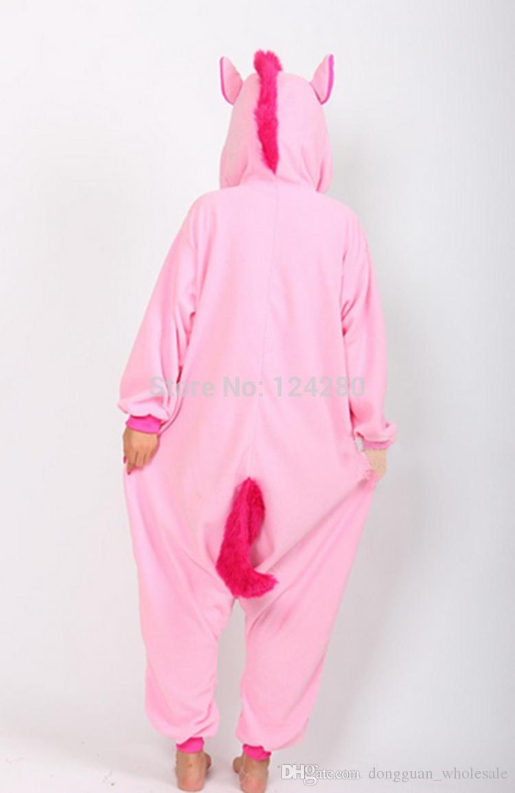 Nico das Einhorn Erwachsene Rosa Blau Einhorn Strampler Kostüm Frauen Männer Tier Pyjamas Pyjama Overall Party Halloween Cosplay Kostüm