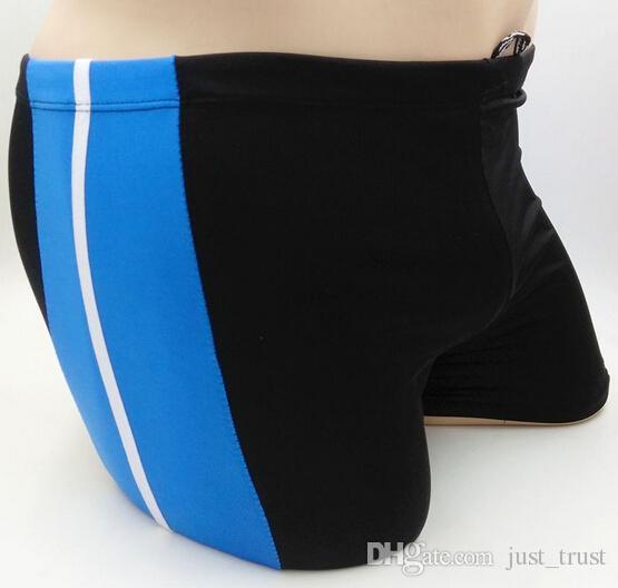 Hot 80% polyester sexy Striped 3D animal floral print men Swiming Trunks Summer Beach Slim Swimwear boxer Briefs