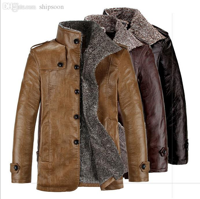 2019 Fall Medium Style Business Men S Leather Suede Jacket High