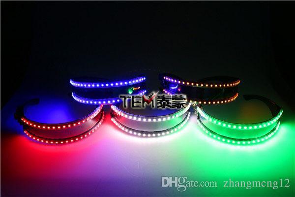الموضة في عيد الميلاد LED نظارات، ليزر المرحلة الدعائم LED تزايد ضوء الأداء المرحلة حلي الملابس