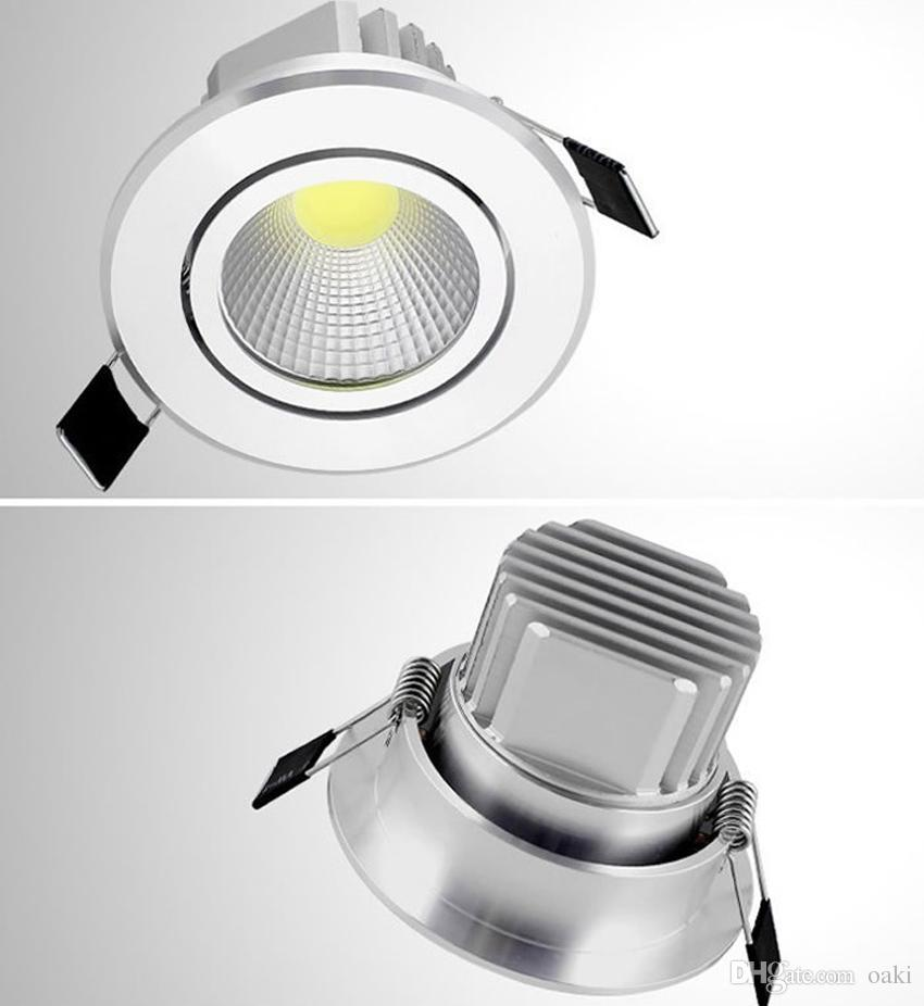 7W LED Downlight COB LED Down Light Dimmable Bulb Ceiling Lighting Recessed 100-110LM/W 3 Years Warranty Super Bright