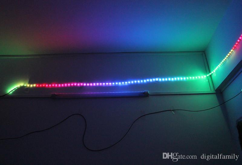 Magic LED Strip Dream Color 6803 IC 5050 RGB SMD Light 150 LED 5M Wodoodporne 133 kolory z kontrolerem z zasilaniem New Arrival przez DHL