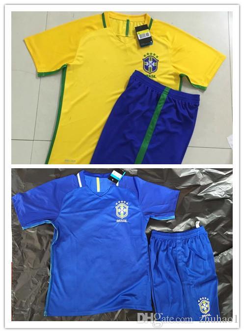 Compre Camisas De Futebol Do Brasil Camisas Do Campeonato Do Mundo 2016  Neymar Jr E Camisas Masculinas De Futebol De Manga Curta Amarela E Azul De  Kaka De ... cc07a69c31635