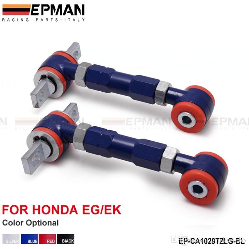 EPMAN Bras de RACING ARRIÈRE BRAS Camber RÉGLABLE KIT POUR 88-00 Honda CIVIC Noir / Bleu / Rouge / Sliver EP-CA1029TZLG