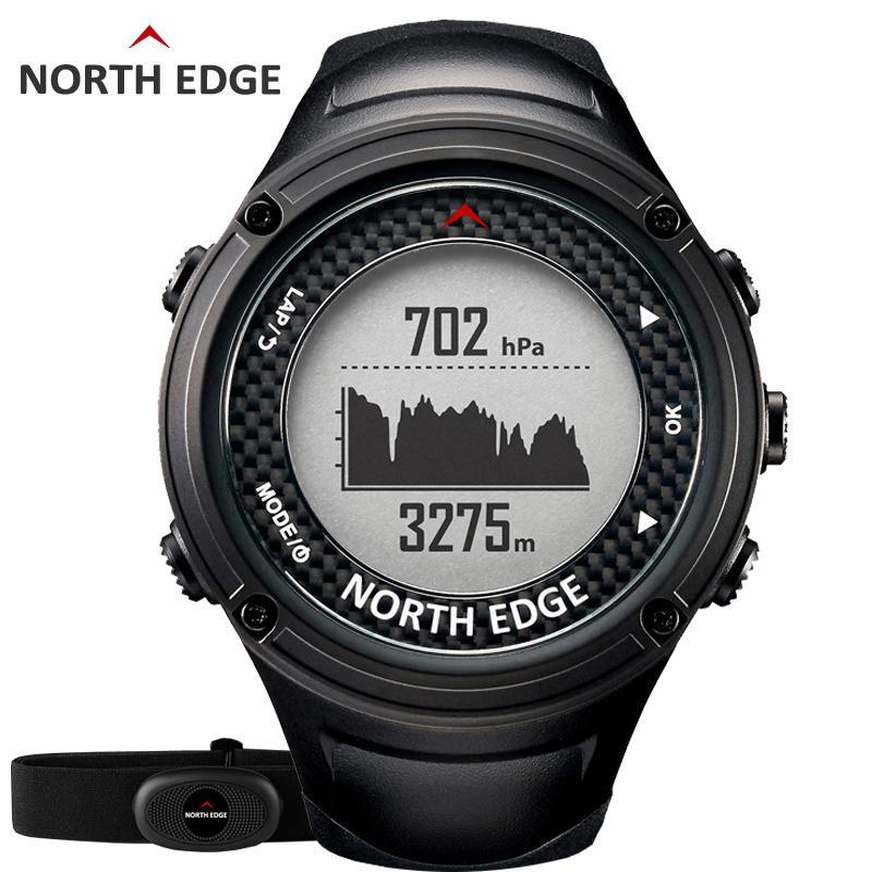 Compre Al Por Mayor NORTH EDGE Hombres Deportes GPS Reloj Hombres Relojes  Digitales Impermeable Monitor De Frecuencia Cardíaca Altímetro Barómetro  Brújula ... 69c1bf01f791