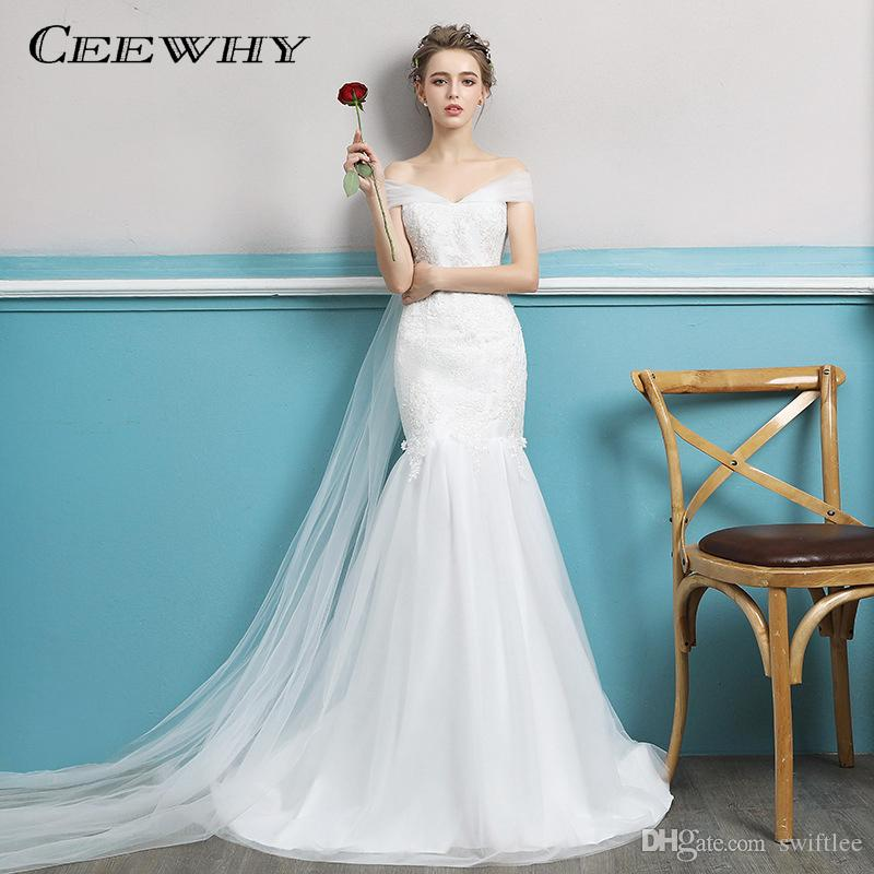 Ceewhy Vestido De Noiva New Design Mermaid Wedding Dress With Bridal ...