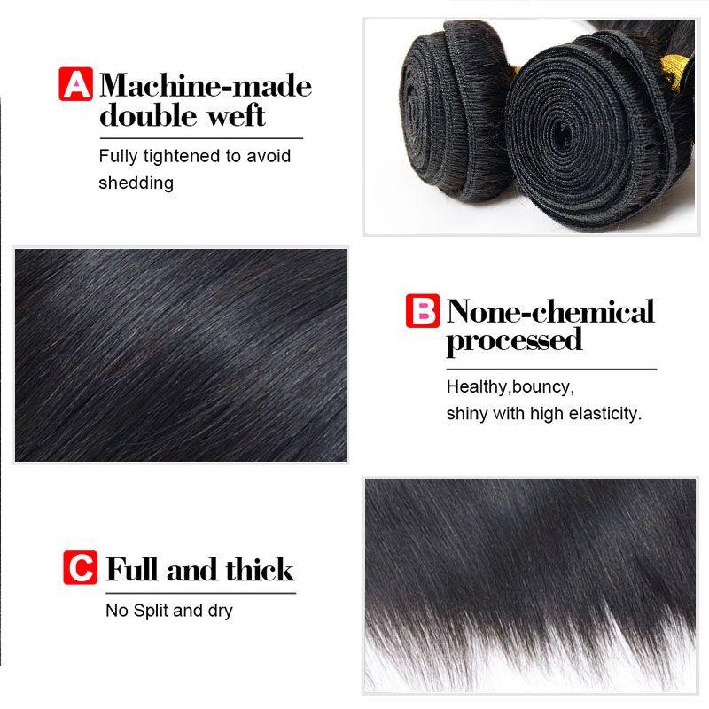 New Arrivals Straight Human Hair 4 BundlesCheap Virgin Hair Bundles Natural Black Brazilian Peruvian Malaysian Indian Human Hair Sale