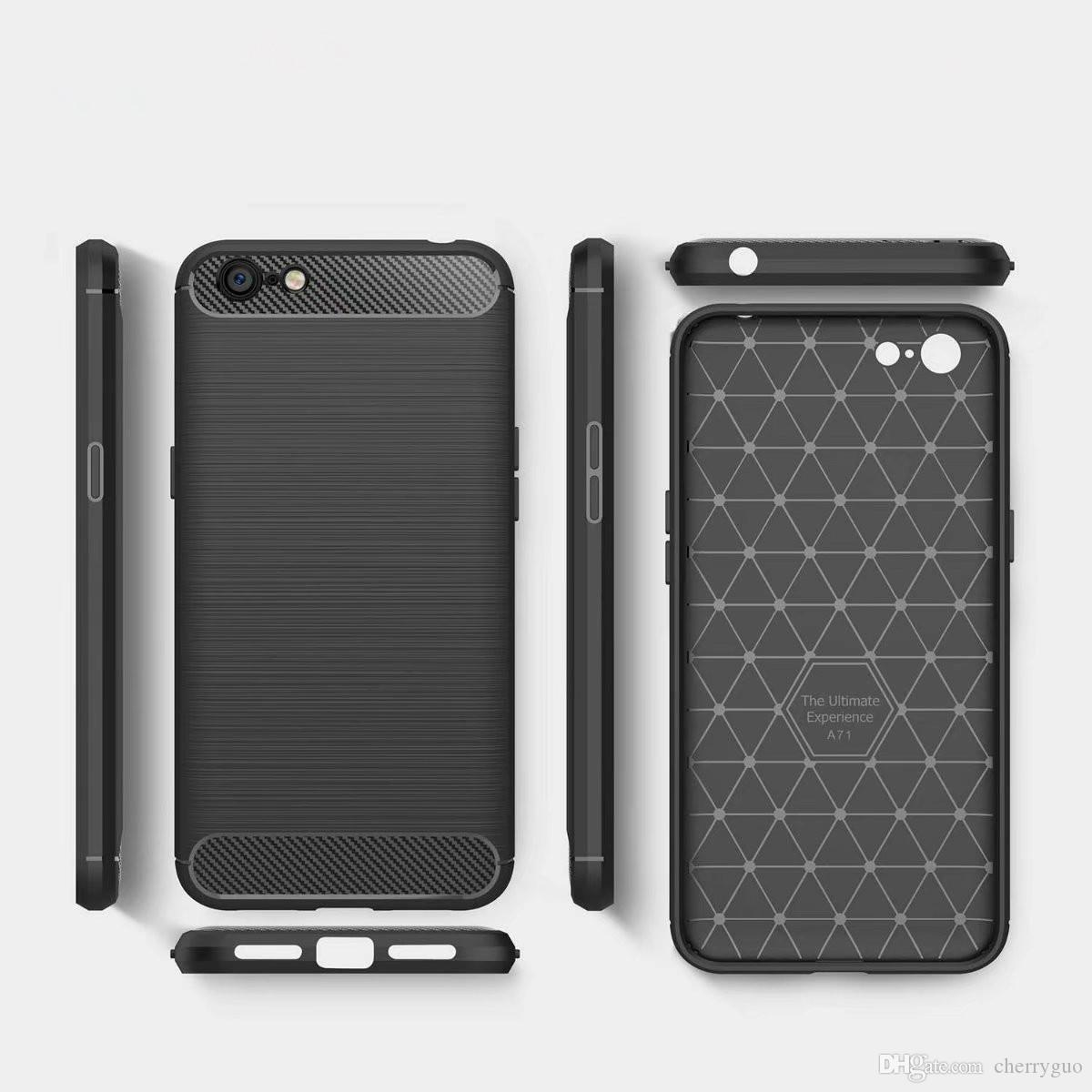 Soft Tpu Case For Oppo F5 Carbon Fiber Brushed Shockproof Non Flip F3 Grand Indonesia Slim Back Cover Telefonkasten Cabina Telefonica Puhelin Kotelo Carcasa De Telefono Telef