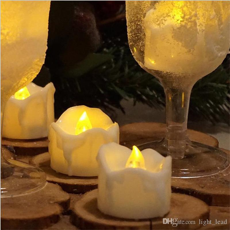 Christmas Romantic LED Electronic Candle Light Candles Night Light Holiday Party Wedding Home Gift Decorative Light