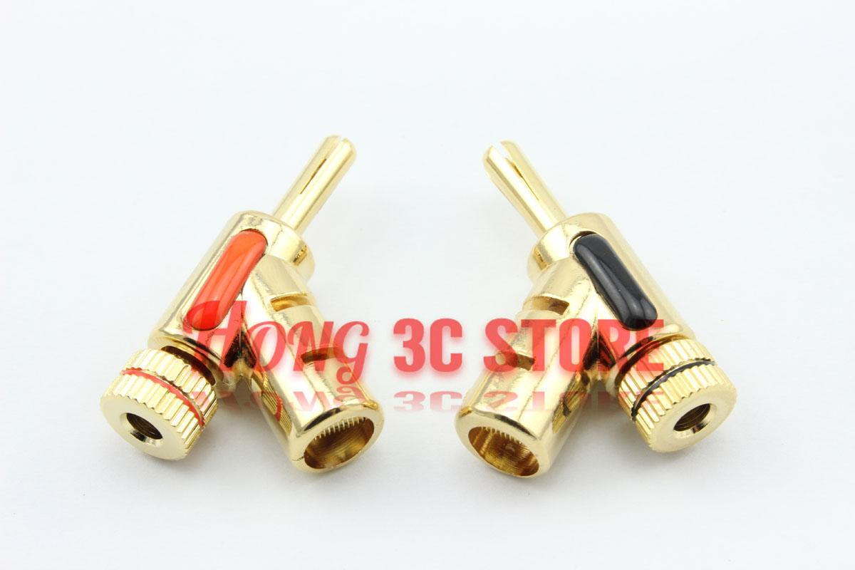 Free Shipping 10 pcs/lot Convenient New Brass Plug Speaker Banana Wire Connector with 7.45mm Hole