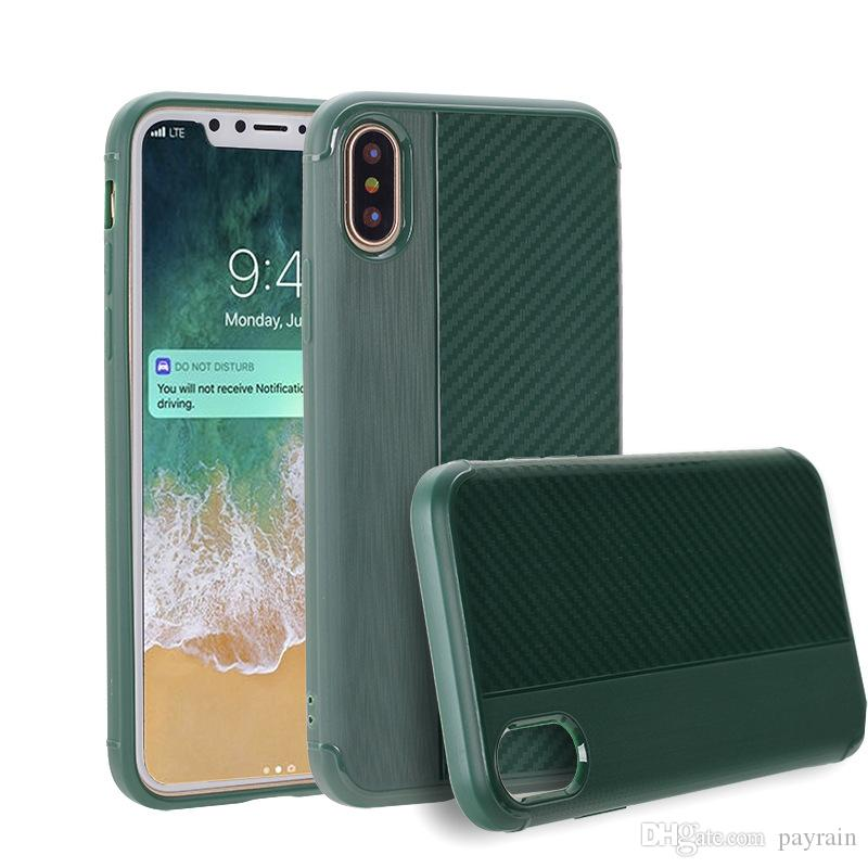 For Samsung S8 Note 8For IPhone X 5 6/6S 7 plus 8 Phone case hot sale new design carbon fiber drawing phone cell