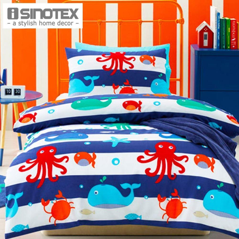 sea creature duver cover set children bedding set single quilt