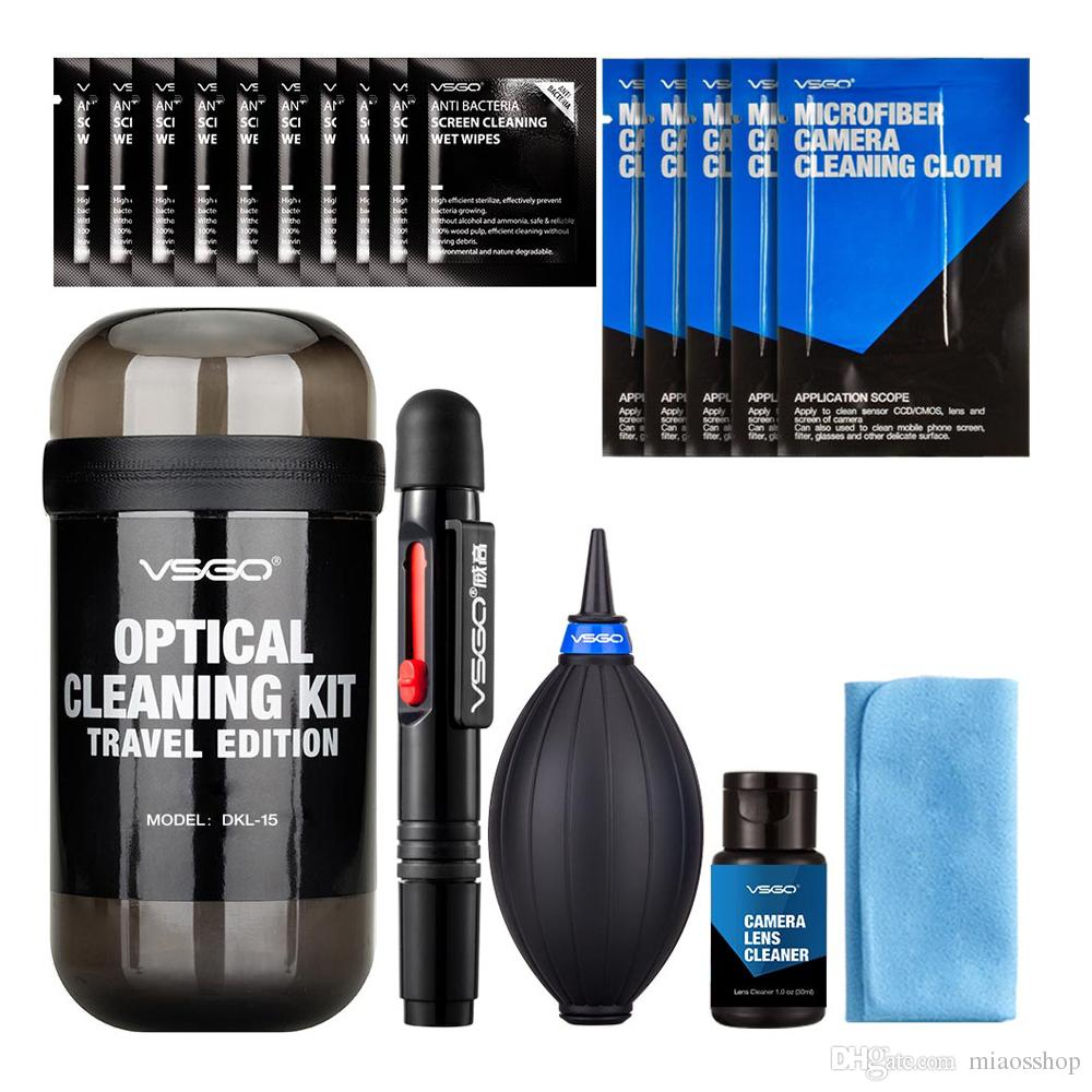 New VSGO 6 In 1 Optical Cleaning Kit Travel Edition With Camera Lens Pen Air Blower Cleaning Cloth Waterproof Bottle.