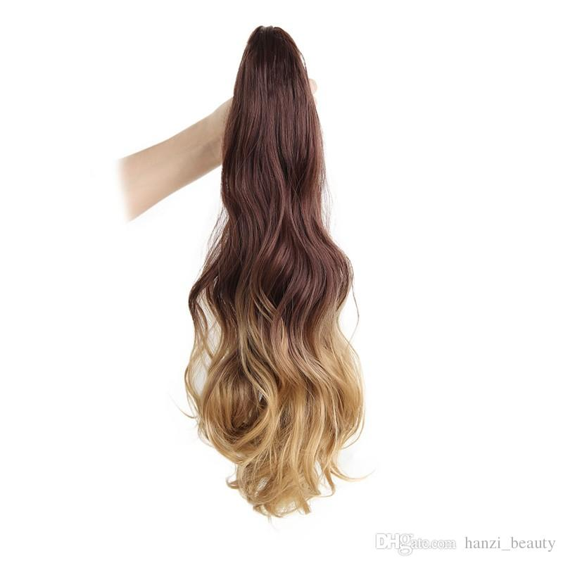 Is A 18 Inches Long Ponytail Clip In Pony Tail Hair Extensions Claw
