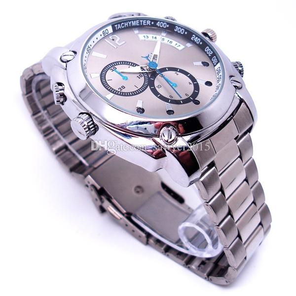 W6000 HD 1080P Infrared Sensor watch camera Night vision Waterproof 8GB 16GB 32GB Stainless steel Watch mini Camera DVR