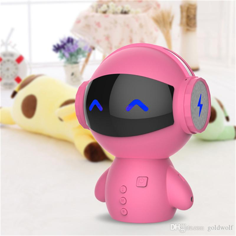 Newest DingDang Cute M10 portable Robot Bluetooth Speaker Stereo Handsfree with power bank AUX MP3 Music Player
