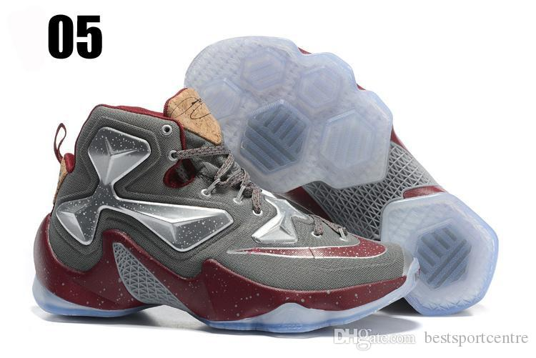 Nike Lebron 13 Xiii Horror Flick Friday The 13th Blood Splatter White University Red 807219 106 Mens Lebrons James Basketball Shoes Sneakers Shoes For
