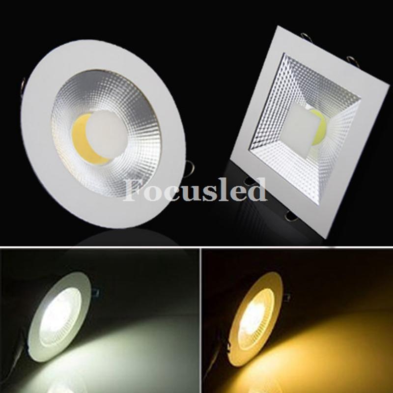Luzes de painel Ultrathin do diodo emissor de luz do COB 9W 15W 20W Dimmable / non Downlights Luzes de teto do Recessed do diodo emissor de luz do encanamento 110-240V