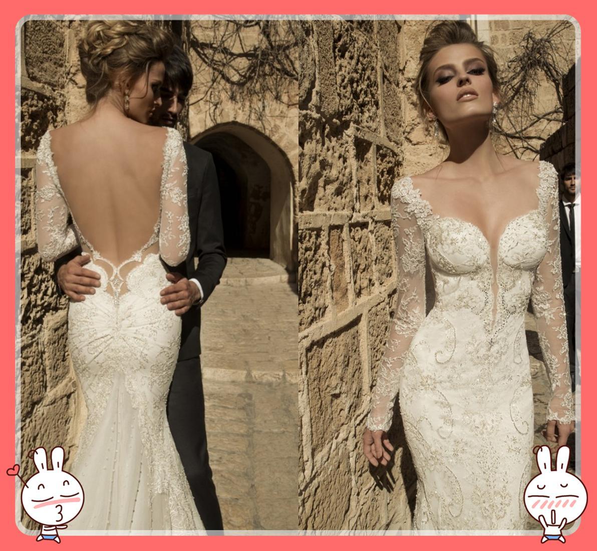 Emmani 2015 Winter Mermaid Wedding Dresses With Lace Applique Double Shoulder Sweetheart Corset