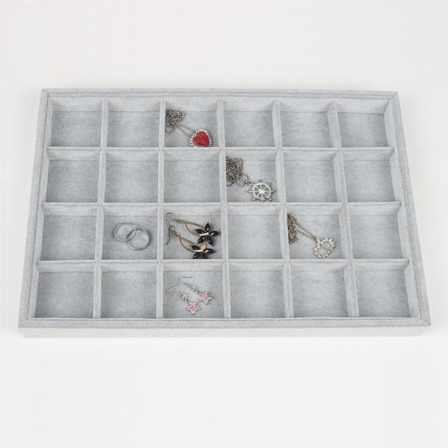 Tonvic разновидности высокого качества серый лед бархат ожерелье браслет кольцо серьги бусины образец отсек ювелирные изделия показать дисплей лоток держатель