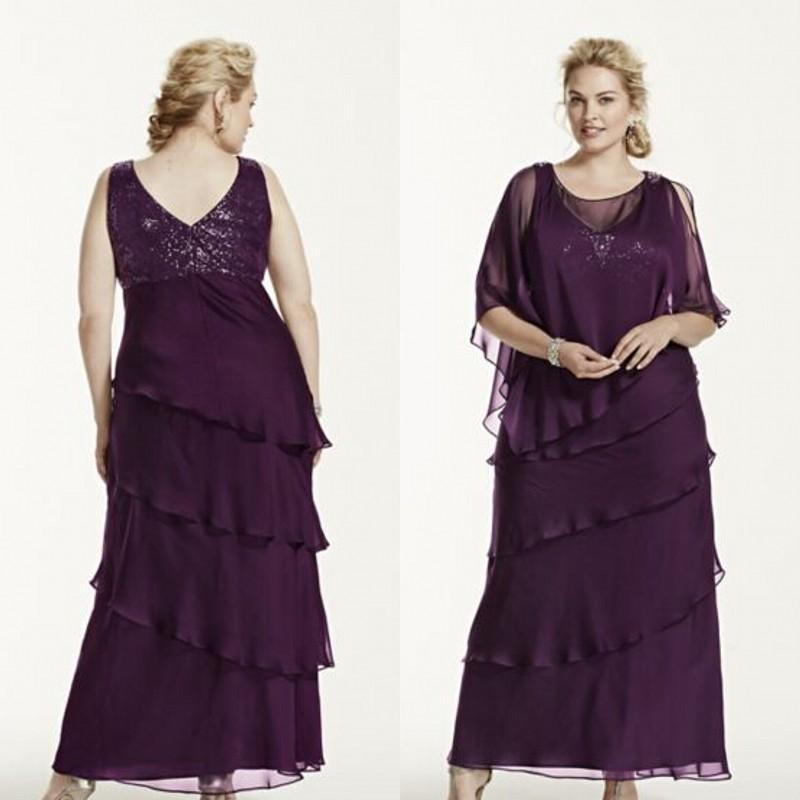 2015 Modest Mother Off Bride Dresses Elegant Plus Size Dress For ...