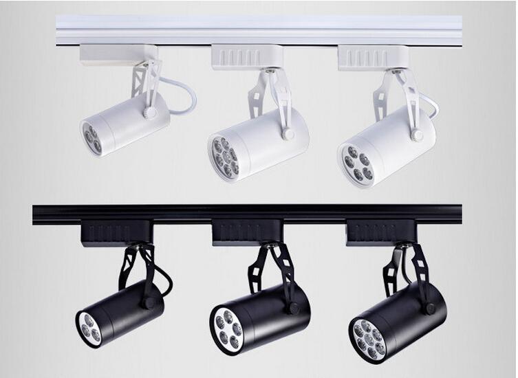 track lighting rails. 3w5w7w12w18w led track rail ceiling spot light downlight shop lamp warmpure white black shell lighting rails e