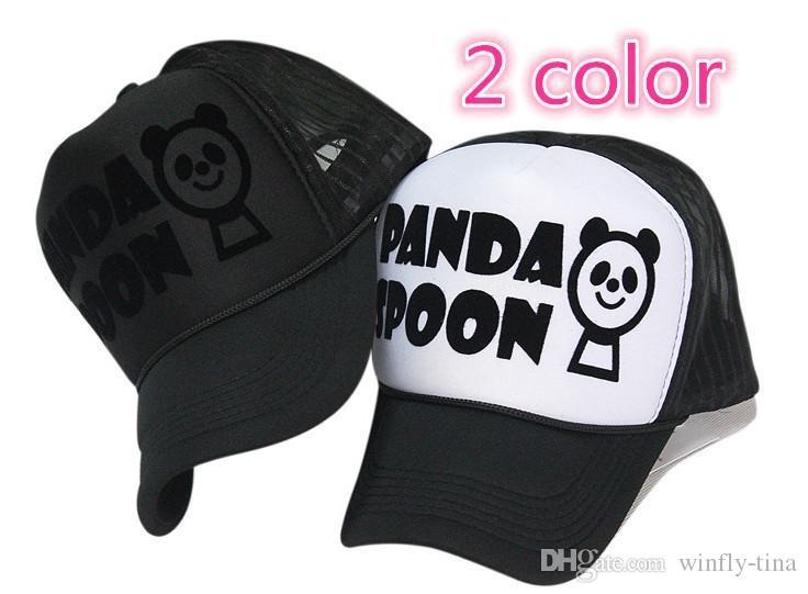 panda baseball hat spoon letters truck cap flocking bear giants