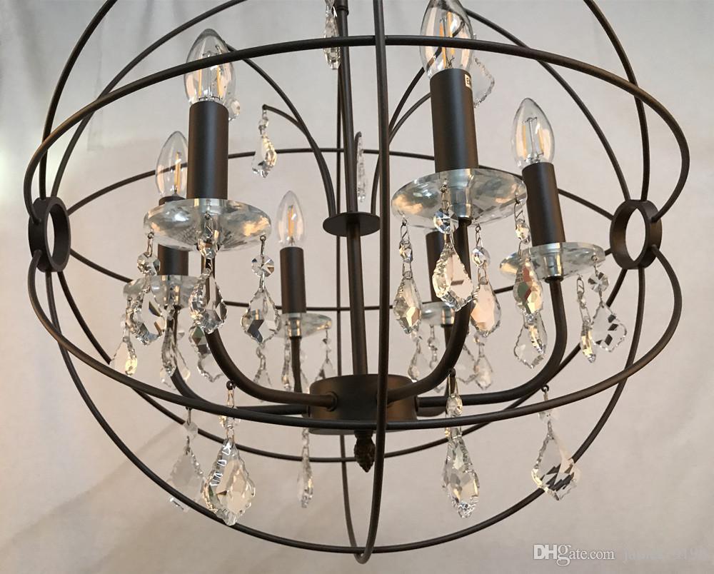 ORB claro K9 Cristal araña de cristal colgante de la lámpara colgante globo luz de techo nuevo para comedor decoración del hogar envío gratis