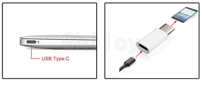 USB 3.1 Type C Mannelijk naar Micro USB 2.0 5Pin Vrouwelijke gegevensadapter voor Tablet Telefoon