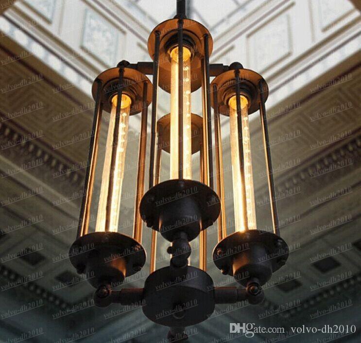AC100-240V T30 Edison лампа старинные железные люстры Rh лофт панк-мода металл chandeliershanging лампа люстры домашний светильник LLFA4760F