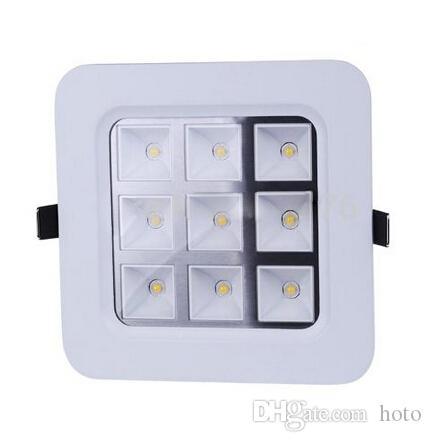 En gros-4W / 9W / 16W / 25W Carré LED Panneau Lumineux Encastré Plafond Downlights AC85-265V Pour l'éclairage de salle de bains cuisine