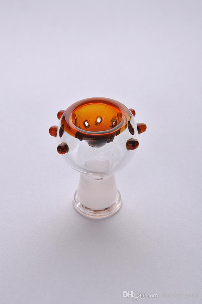 Nieuwste ontwerp kleurrijke 14,4 mm of 18,8 mm glazen kom voor glazen bubbler en asvanger glazen rookbak
