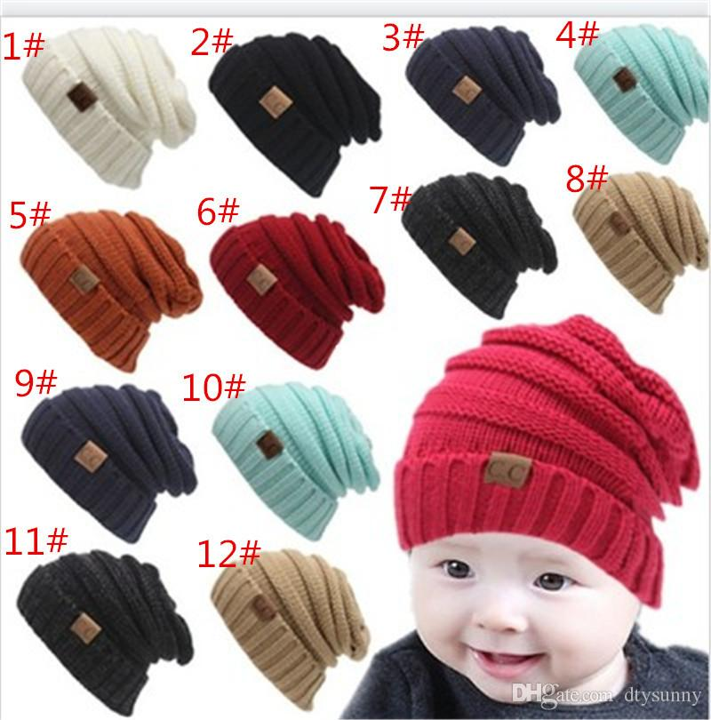 Kids CC Beanies Warm Knitted CC Hats Children Winter Hats Children Wool  Knitted Caps Outdoor Sports Caps For Baby Crochet Caps UK 2019 From  Dtysunny d2e92f2eb9f1