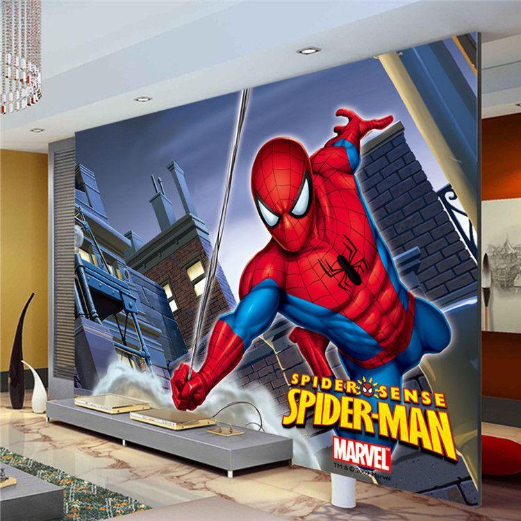 Marvel Wall Mural marvel spiderman kids boys children photo wallpaper custom super