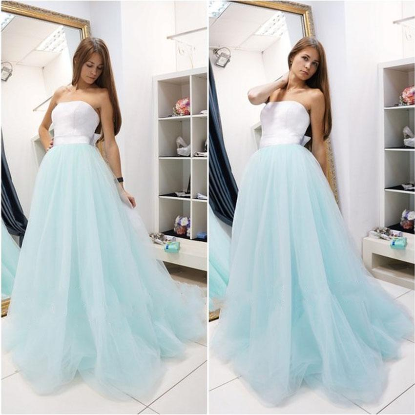 Cheap Long Mint Blue Prom Gowns Dresses Party Evening Gown Dress ...