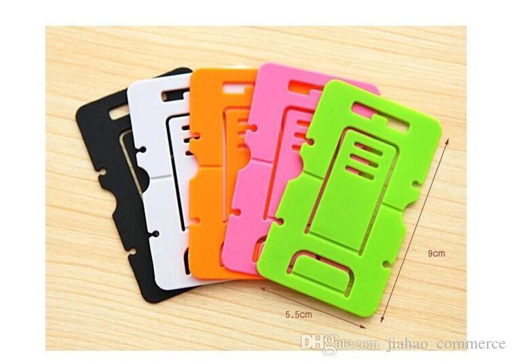 Groothandel 500 stks / partij multi kleuren beugel voor mobiele telefoon houderstandaard voor slimme telefoon, mobiele telefoon, Android-telefoonhouder staande